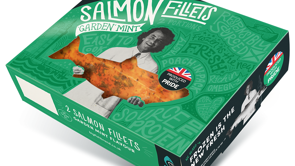 Big Fish Salmon Fillets marinated with Garden Mint (2 portions) 250g