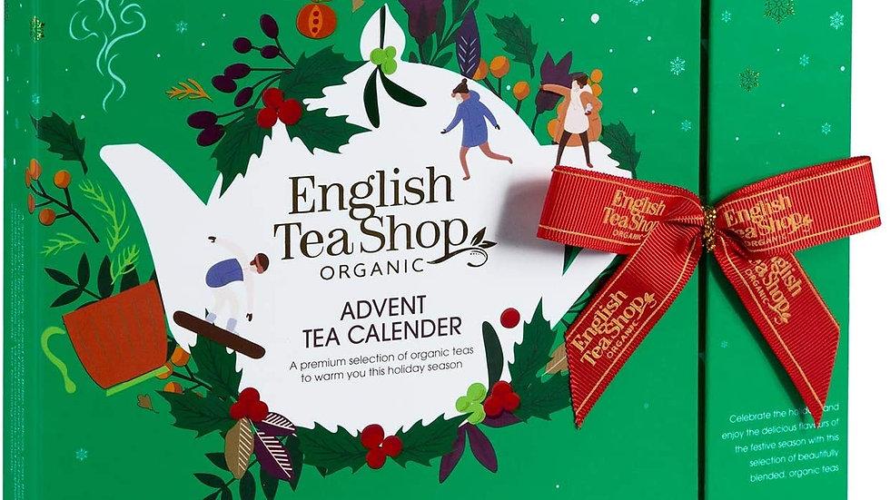 English Tea Shop Organic Book Style Advent Calendar Green