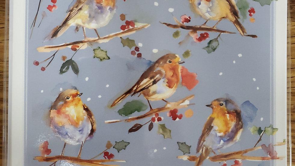 Almanac Gallery Charity Christmas Cards 8 Pack - Christmas Robins