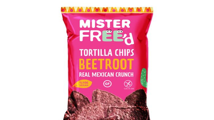 Mister Freed Tortilla Chips Beetroot