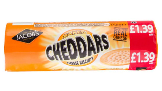Jacobs Baked Cheddar Biscuits 150g PM£1.39