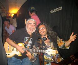 Con Julio Lobos