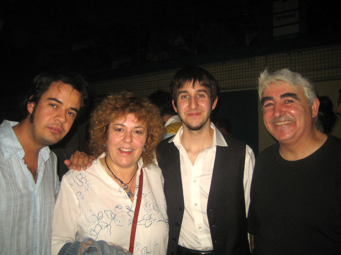Con David GIorcelli, Big Mama y Bernat Font