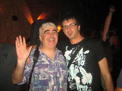 Con Miguel Talavera