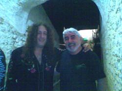 Con Santiago Campillo