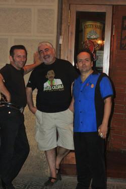 Con Moises Sorolla y Eddie Catman