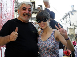 Con Virginia Montero Labuat