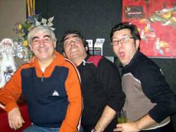 Con Manuel Solsona y Manel Burgos