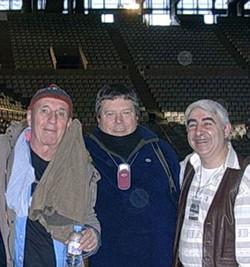 Con Micky y Tony Ronald