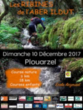 affiche trail des ribines de l'aber ildut plouarzel 10 decembre 2017