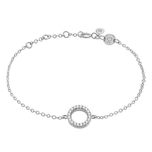 Armband Silber Kreis Zirkonia
