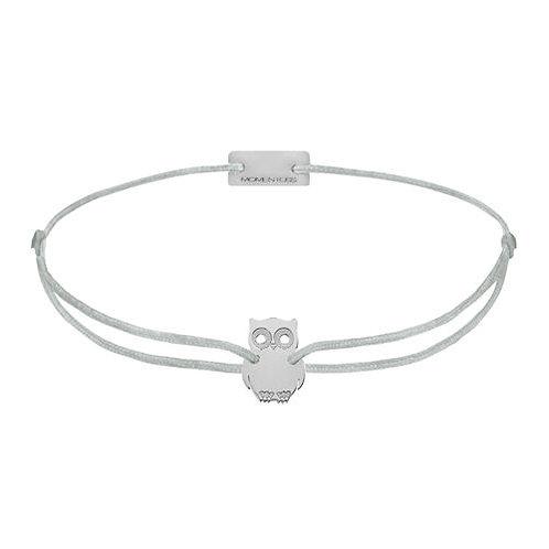 Armband Textil Silber Eule