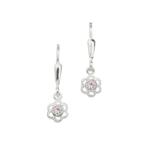 Ohrhänger Silber Blume