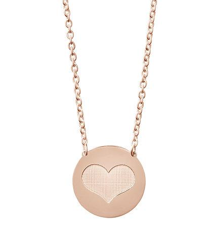 Collier Silber vergoldet rosé Herz