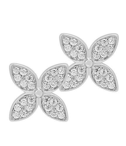 Ohrstecker Silber Blume  Zirkonia