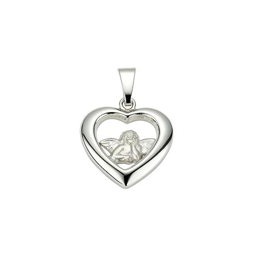 Kettenanhänger Silber Herz mit Engel