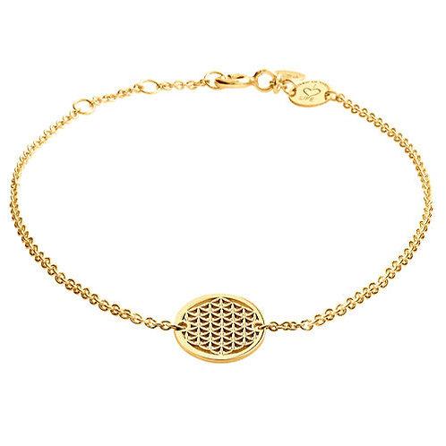 Armband Silber vergoldet Lebensblume