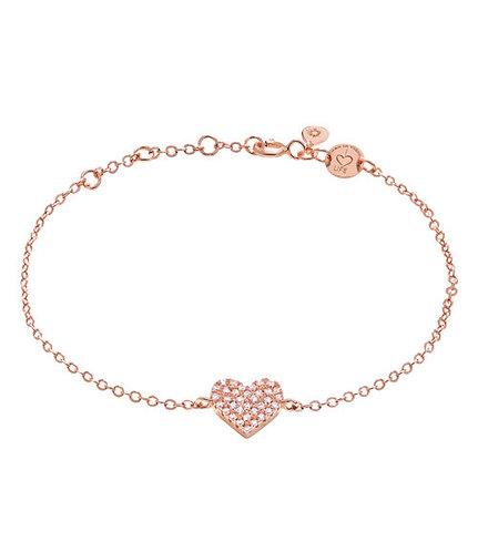 Armband Silber vergoldet rosé Herz