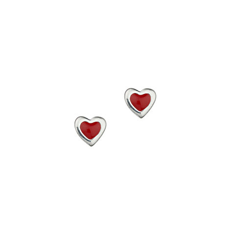 Ohrstecker Silber Herz