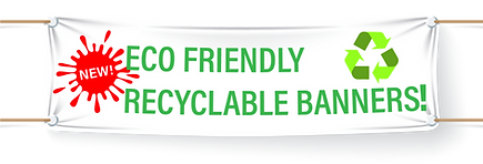 Recyclable eco friendly banner printing