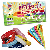 Ticket Printing, Wristband Printing, Tyvek, Silicone, Rubber, Security, Event, Festival