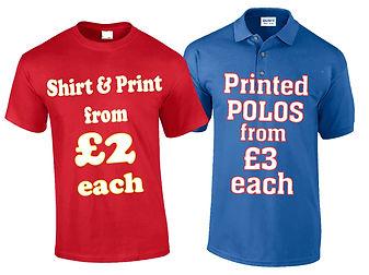 T Shirt Printing, Polo Shirt Printing