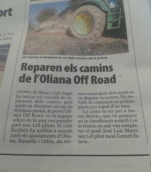 Las tareas de reparación de caminos ya están en marcha