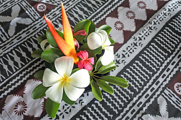 Tropical pacific islands Flower bouquet