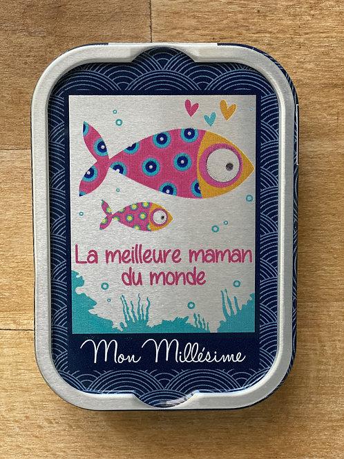 """Sardines Millesimées Cadeau """"La meilleure maman du monde"""""""