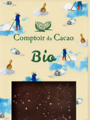 Chocolat Bio Tablette Noire Fleur de Sel 72%