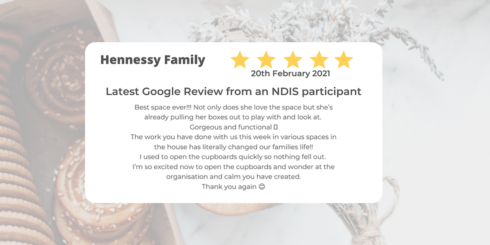 Latest Google Review from an NDIS partic