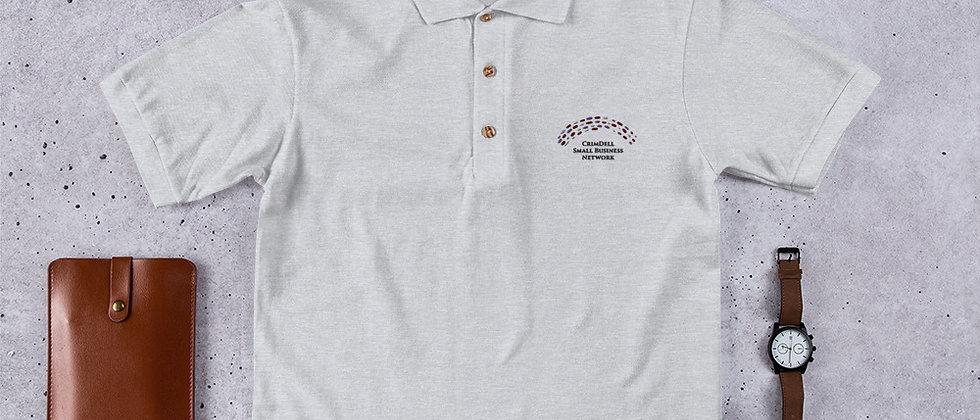 CrimDell Unisex Polo - Black Logo