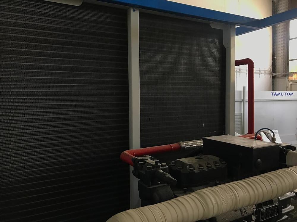 Ice machine air condenser