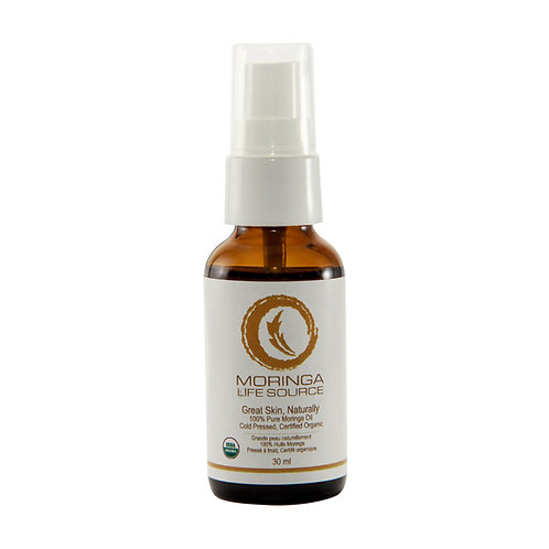 100% Pure Organic Moringa Oil – Cold Pressed 30 ml