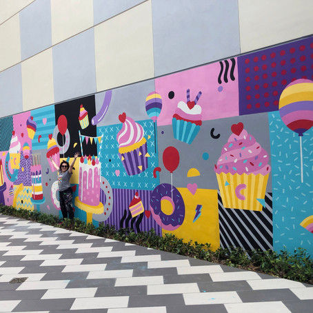 NEW MURAL FOR BUNNIECAKES
