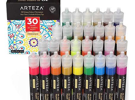 Arteza 3D glitter paint
