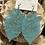 Thumbnail: Teal leaf earrings