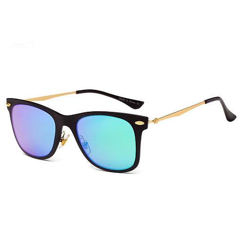 Classic Horn Rimmed Rectangle Fashion Sunglasses
