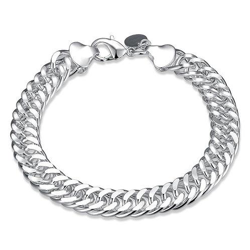 Wheat Chain 18K White Gold Plated Bracelet