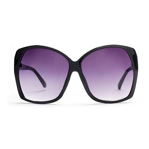Black 70s Retro Oversized Sunglasses