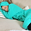Thumbnail: Bath robe with attached turban Krown Robes