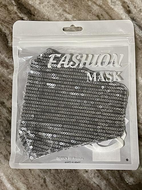 Silver Sequin facemask