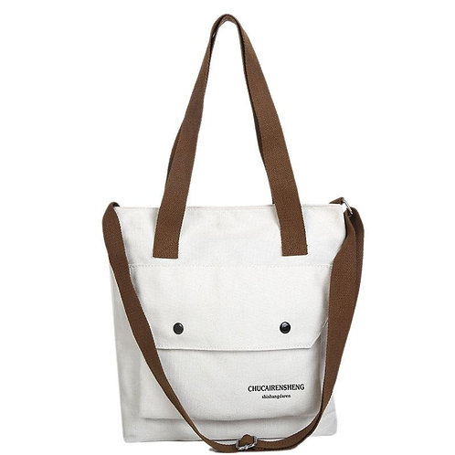 Canvas Women Cross Body Bag Casual High Capacity Shopping Bag for