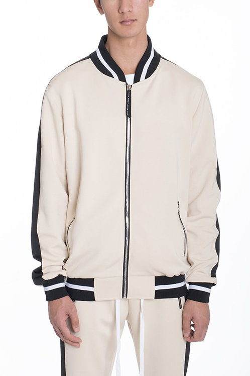 RALLY TRACK JACKET- BEIGE