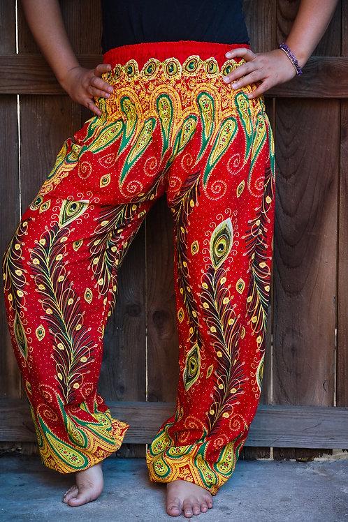 New Orange Peacock Boho Hippie Gypsy Pants