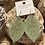 Thumbnail: Mint green leaf earrings