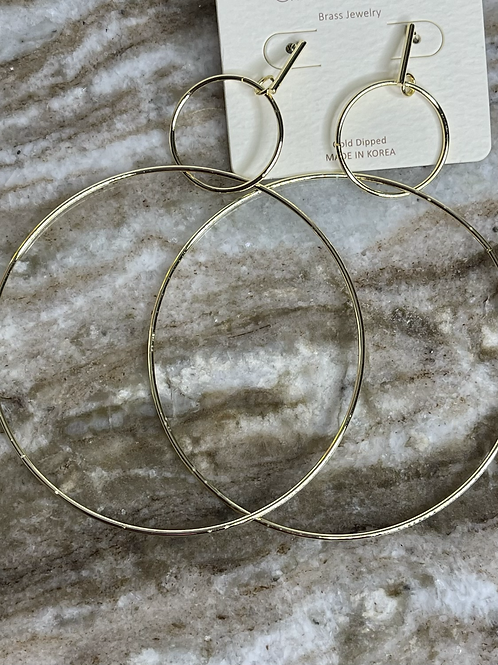Large Gold Tone Hoop Earrings