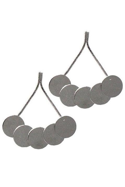 Metal Circle Drop Post Earrings