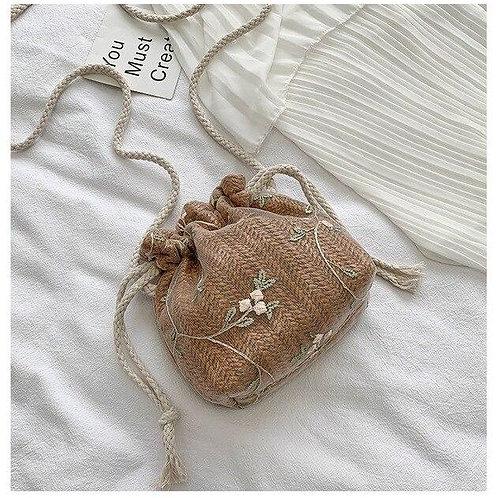 Fashion Women Floral Print Drawstring Shoulder Bags Cute Princess