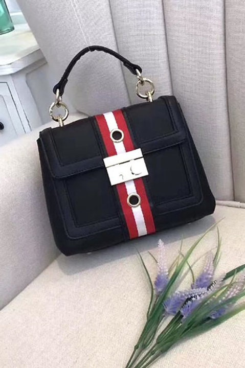 Red and Black Bag with metal closure